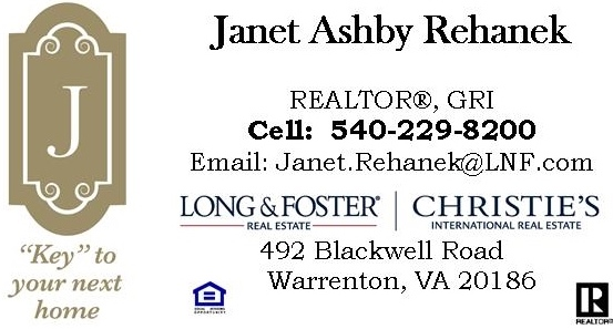 Janet Ashby Rehanek, Long & Foster Realtors, Warrenton, Caliber Home Builder