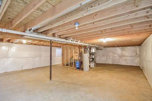 Caliber Home Builder, The Roberson II, Unfinished Basement