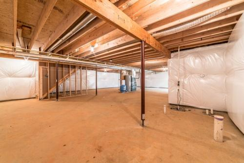 Caliber Home Builder, The Preston, Basement