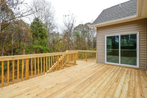 Caliber Homebuilder, Flint Ridge II, deck