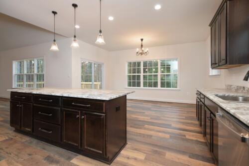 Caliber Homebuilder, Flint Ridge II, dining room