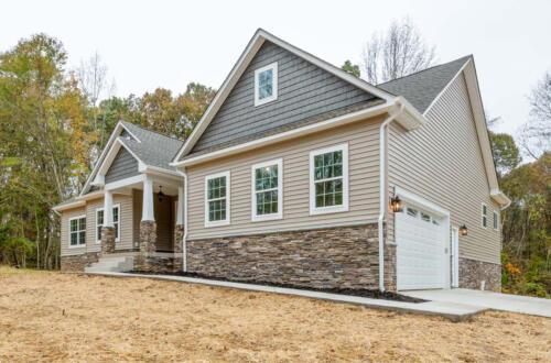 Caliber Homebuilder, Flint Ridge II, exterior front, garage