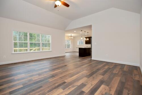 Caliber Homebuilder, Flint Ridge II, great room