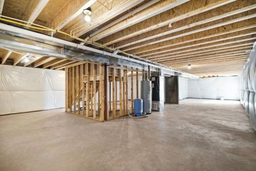 Caliber Home Builder, The Madison, Basement